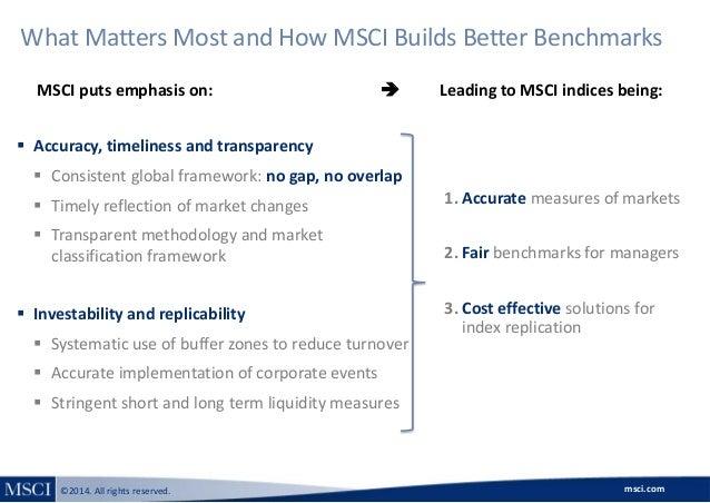 Msci market classification framework