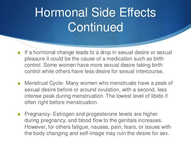 Hormone changes during sex