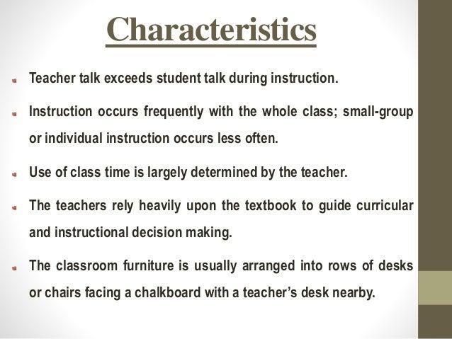 Teacher centered education