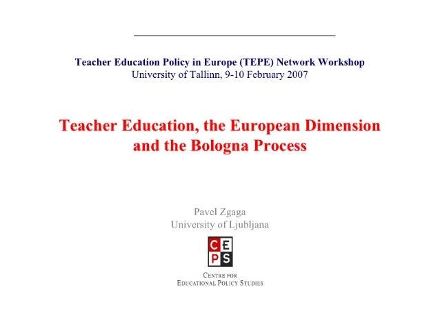 Teacher Education, the European Dimension