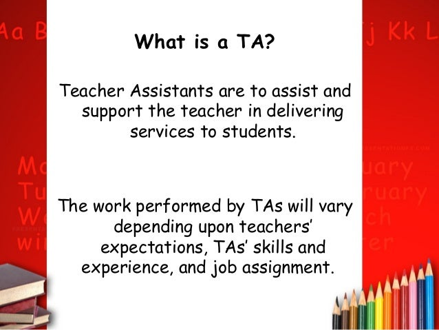Teacher assistants term 4 presentation