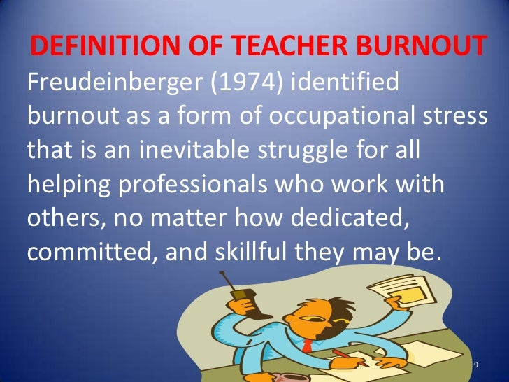 teachers burnout thesis This study investigated the levels of job burnout among 300 university teachers a study of job burnout among university teachers thesis campinas arquivos.