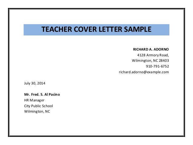 Sample Cover Letter Teacher Job from image.slidesharecdn.com