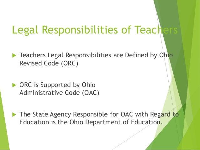 Teacher ethics and responsibilities draft