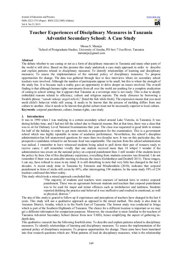 Journal of Education and Practice ISSN 2222-1735 (Paper) ISSN 2222-288X (Online) Vol.4, No.25, 2013  www.iiste.org  Teache...
