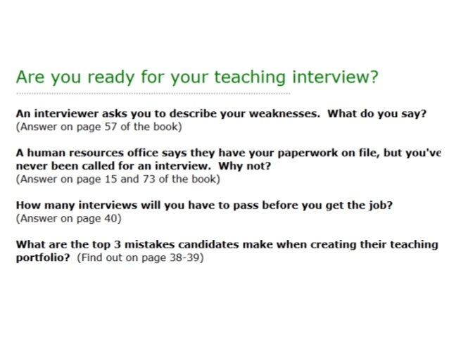 Teacher interview questions and answers pdf