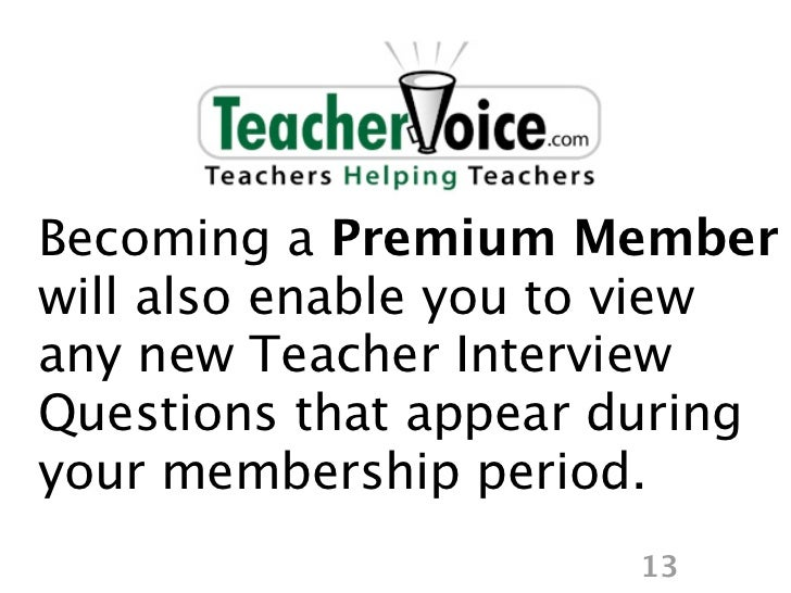 Teacher Interview Questions by School District & State