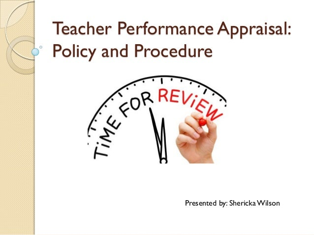 Teacher Performance Appraisal Presentation