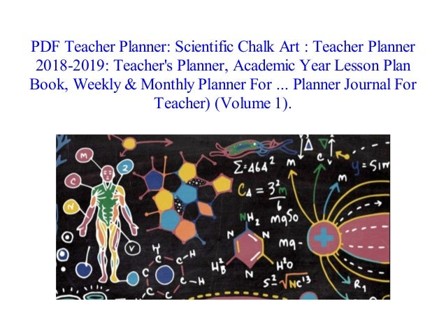 pdf teacher planner scientific chalk art teacher planner 2018 20