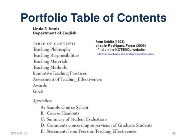Teacher Portfolios