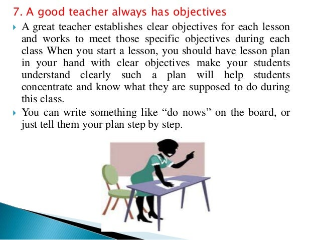 Being a Good Teacher
