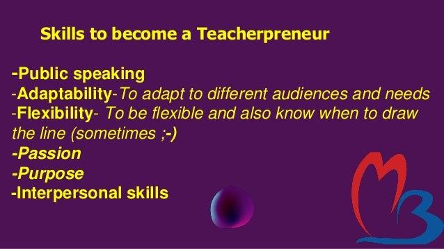Teacherpreneur-Concept & Strategies