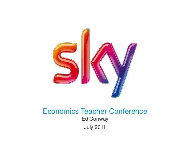 Economics Teacher ConferenceEd ConwayJuly 2011