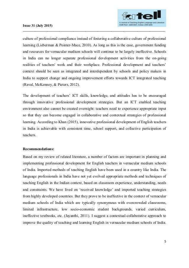 English In Italian: Teacher Professional Development To Support English