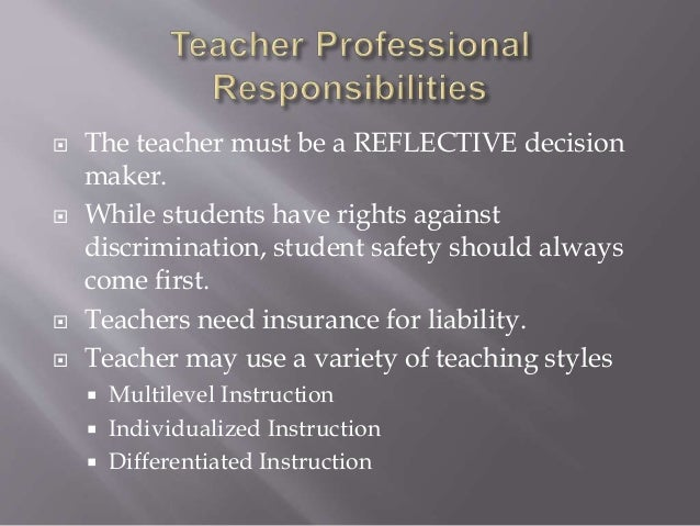 Teacher professional responsibilities chap. 2