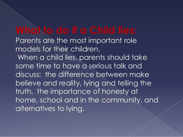 what to do if your child lies