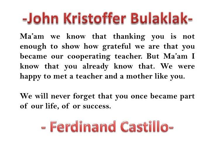 my teacher my hero letter