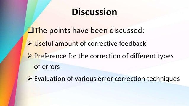 attitudes towards error correction Efl students' attitudes and preferences towards written corrective  chapter  2: students' attitudes on error correction and.