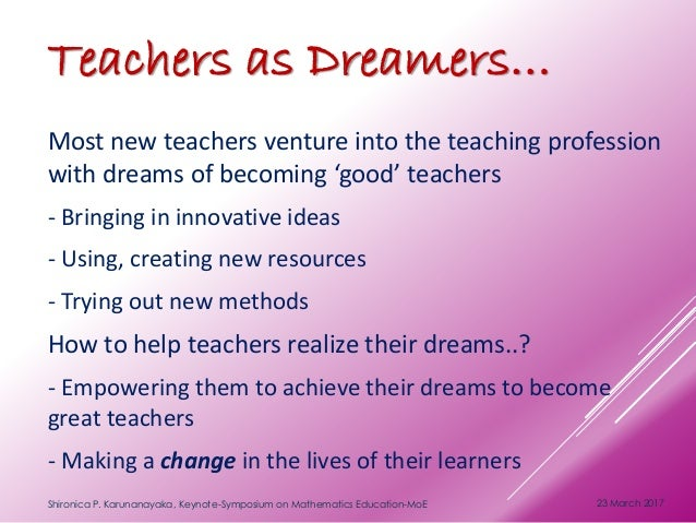 dreams to become a teacher