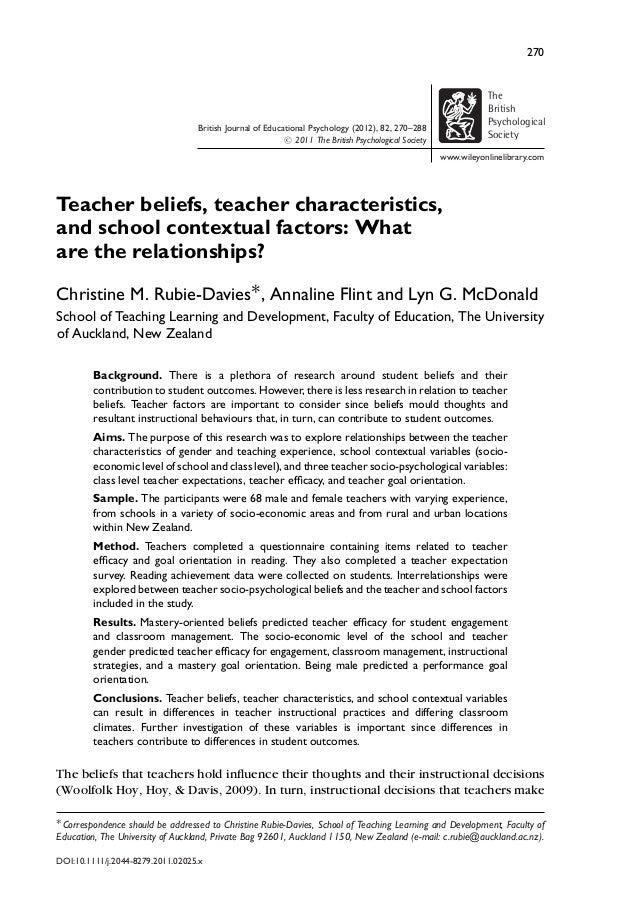 270 British Journal of Educational Psychology (2012), 82, 270–288 C 2011 The British Psychological Society The British Psy...