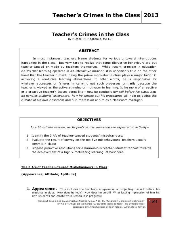 Teacher's Crimes in the Class 2013                      Teacher's Crimes in the Class                                   By...