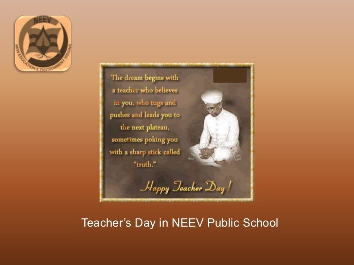 Teacher's Day in NEEV Public School