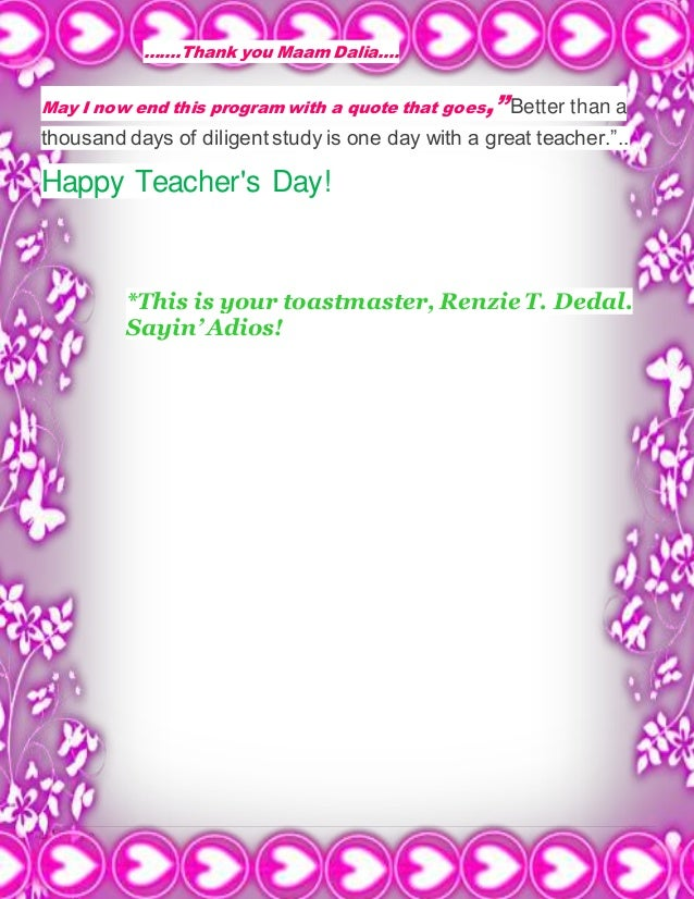 anchoring script for teachers day