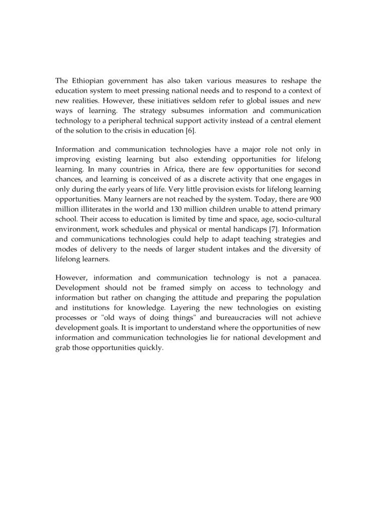 essay role of ict in education
