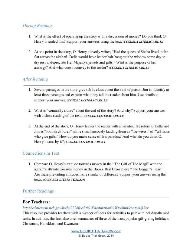 Teachers Guide: Gift of The Magi