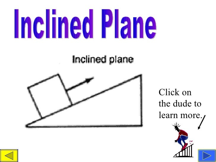 inclined plane simple machine pulley inclined plane click on the dude to learn more teacher simple machine powerpoint