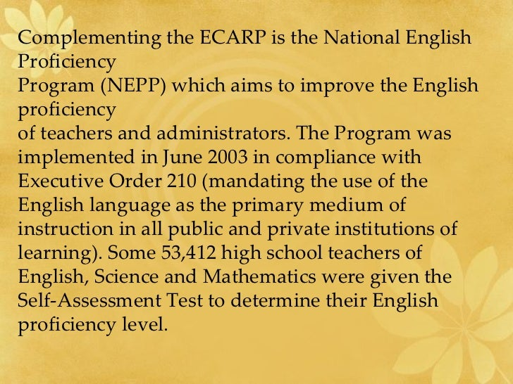 proficiency scales for english and mathematics instruction