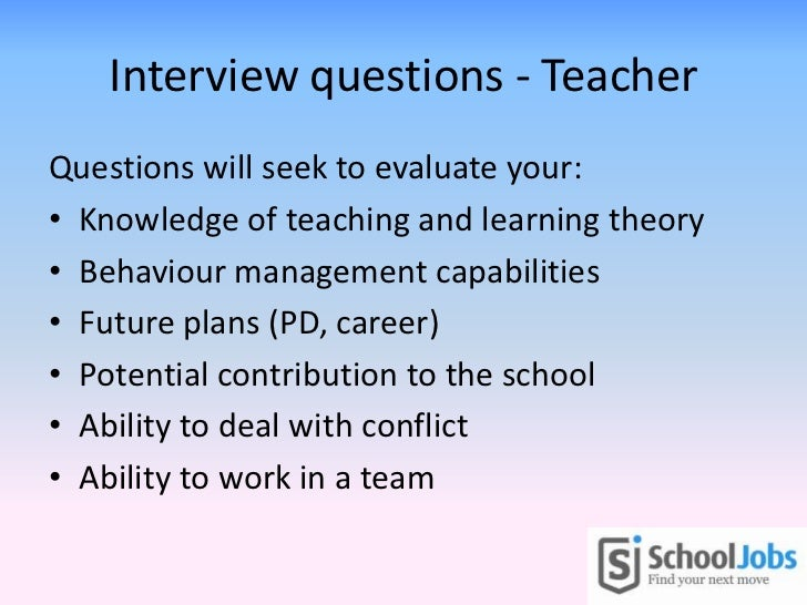 Teachers' interview skills guide