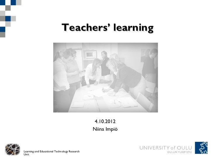 Teachers' learning                                                4.10.2012                                               ...