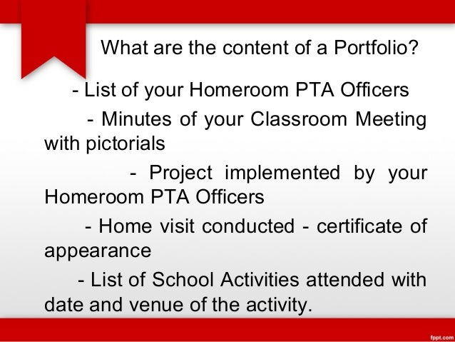 Minutes of homeroom pta meeting