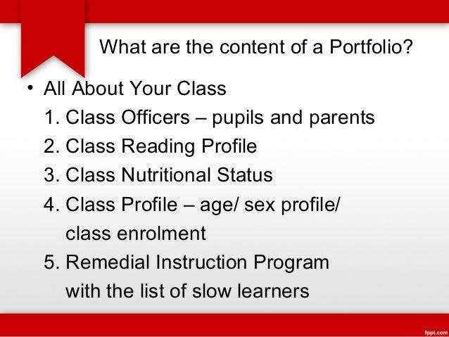 Teacher's Portfolio - A Mirror of One's Accomplishments