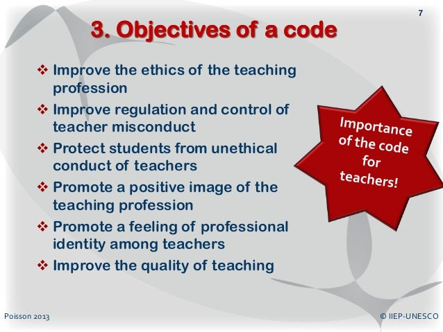 teachers code of ethics essay Also aim to explore pre-service teachers' perceptions on ethical education and to examine the b ed course curriculum for ethics subjects across the one-year and .