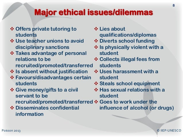 examples of personal ethical dilemma Common ethical dilemmas in social work differences in personal values sometimes, clients need a type of assistance that conflicts with a social worker's personal moral beliefs a pregnant client, for example.
