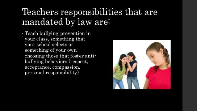 NJ Anti-Bullying Law - Teacher Mandates