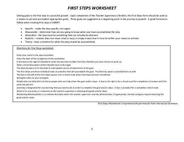 Knowing your Strengths to Foster Collaboration HANDOUT 2 – First Step Worksheet