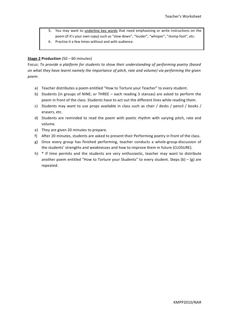Teachers worksheet – Teachers Worksheet