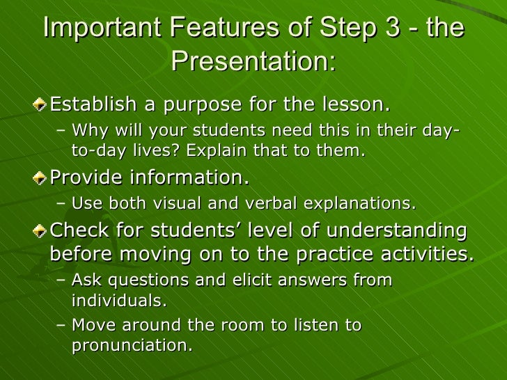 Teacher Training: Lesson Planning Presentation Jan09
