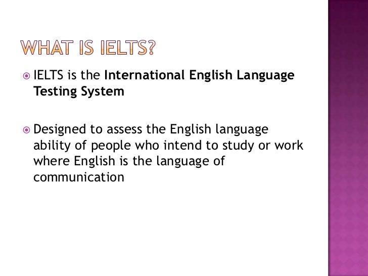 IELTS Teaching Workshop: Introduction To IELTS Slide 2
