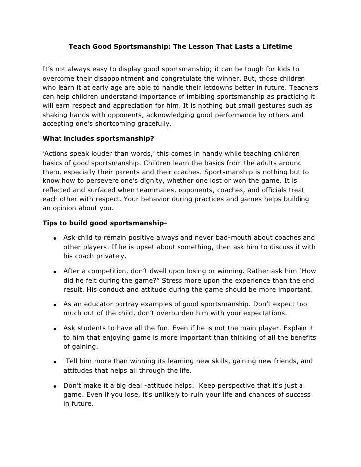 Sportsmanship Worksheet For High School. Sportsmanship. Best Free ...
