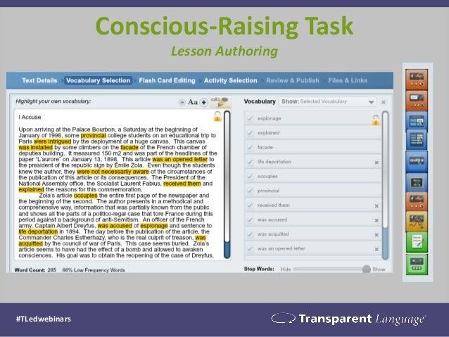 Conscious-Raising Task Lesson Authoring #TLedwebinars