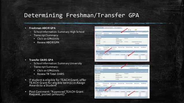 Teach grant request