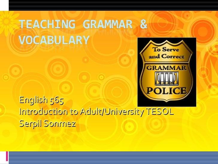 English 565  Introduction to Adult/University TESOL Serpil Sonmez