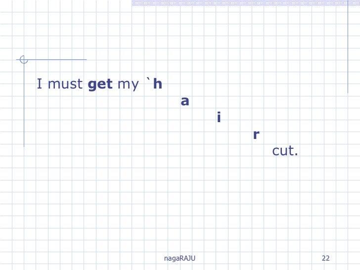 I must  get  my ` h a i r   cut.