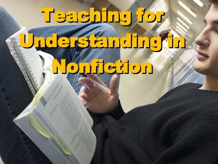 Teaching for Understanding in Nonfiction