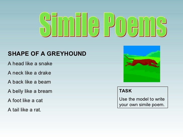 How to Write a Simile & Metaphor Poem