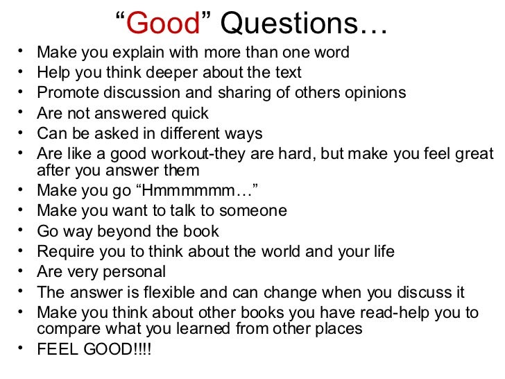 Questions That Make You Think >> Teaching Questioning